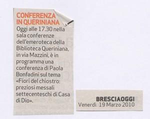 MISINTA - BRESCIAOGGI - 19.03.2010 - Enzo Giacomini