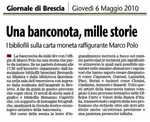 MISINTA - GIORNALE DI BRESCIA - 06.05.2010 Enzo Giacomini