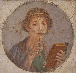 250px-Fresco_showing_a_woman_so-called_Sappho_holding_writing_implements,_from_Pompeii,_Naples_National_Archaeological_Museum_(14842101892)