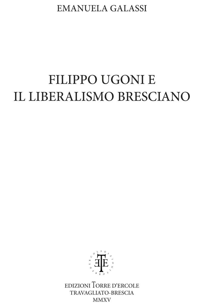 Volume FILIPPO UGONI _frontespizio