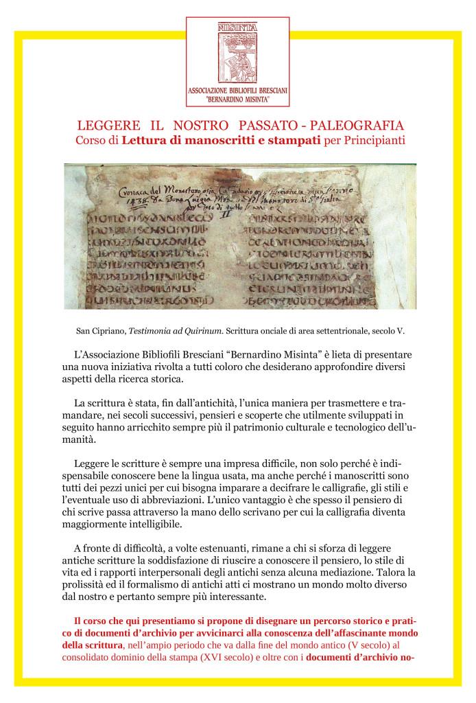CORSO DI LETTURA-PALEOGRAFIA-1