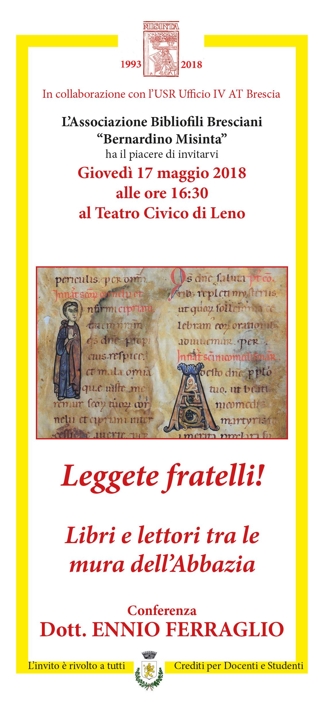 INVITO X 1 FERRAGLIO A LENO